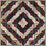 Log Cabin Quilt, Barn Raising Setting