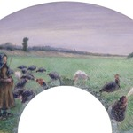 Girl in Field with Turkeys (La Dindonnière)