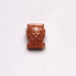 Amulet in Form of Hathor Head Inscribed for Hatshepsut &amp; Senenmut