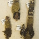 4 Textile Fragments, Undetermined or Mantle?, Tassels, 4 Fragments