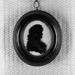 Oval Silhouette; Bust of Woman Facing Right