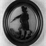 Silhouette of Officer Standing Facing Left