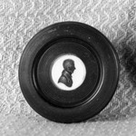 Round Box with Silhouette Bust of Man on Lid