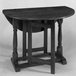 Drop Leaf Table with Trestle Legs and Straight Gates
