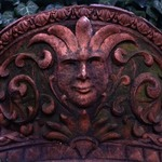 Pilaster Capital with Greenman, from an unidentified building on Worth Street, between Church and Broadway, NYC (demolished 1961)