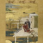 "Scene from the Tale of Genji (Hana No En, ""Festival of the Cherry Blossoms"")"
