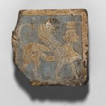 Tile with Winged Crowned Female Sphinx