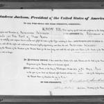 Certificate Naming Geromus Johnson Appraiser of Goods for the Port of New York
