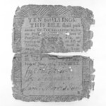 Ten Shilling Note Printed on Rag Paper