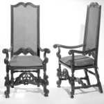 Cane Back Armchair, One of Pair