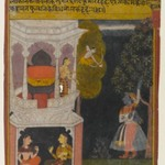 The Bewildered Nayika, Page from a Rasikapriya Series
