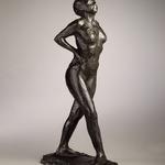 Dancer at Rest, Hands Behind Her Back, Right Leg Forward (Danseuse au repos, les mains sur les hanches, jambe droite en avant, première étude)