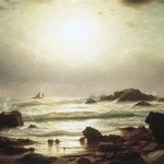 Sail Boats Off a Rocky Coast