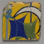 Tile Fragment Depicting a Sailor on the Mast of a Ship