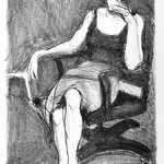 Seated Woman Drinking from Cup
