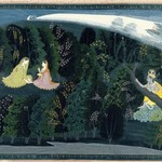 "Krishna Gazes Longingly at Radha, Page from the ""Lumbagraon Gita Govinda"" Series"