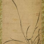 Kakemono: Orchids, Bamboo, and Thorns - Right panel