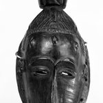 Mask with Conical Topknot