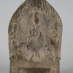 Stele with Maitreya and Attendants