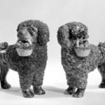 Figure of a Poodle, One of Pair