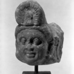 Small Head of a Deity or Attendant