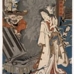 Yoshikado Visiting the Old temple at Soma