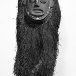Ekpo Society Mask with Fringe Attachment