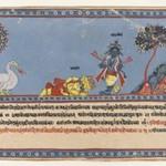 Brahma Worships Krishna, Page from a Dispersed Bhagavata Purana Series