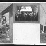 Study for a Mural with Three Hospital Scenes