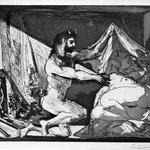 Faune Dévoilant une Dormeuse (Jupiter et Antiope, daprès Rembrandt)
