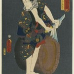 The Actor Kawarazaki Gonjuro I (1838-1903) as Osarabakuzo Denji, from the series &quot;Thieves in Designs of the Time&quot;