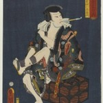 "The Actor Kataoka Nizaemon VIII (1810-1863) as Kumokiri Nizaemon, from the series ""Thieves in Designs of the Time"""