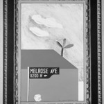 Picture of Melrose Avenue in an Elaborate Gold Frame