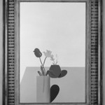 Picture of a Still Life That Has an Elaborate Silver Frame