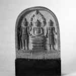 Architectural Element from a Temple: Scene of Buddha Mucalinda and Attendants