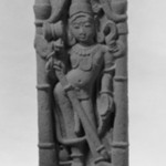 Architectural Fragment Depicting Siva in a Pillared Niche