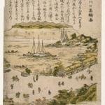 Shinagawa-guchi takawa zu (Scene at Shinagawa?)
