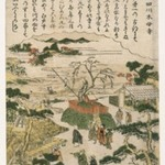 Mokuboji Temple on the Sumida River (Sumidagawa Mokuboji), from Genre Scenes of Famous Places in Edo