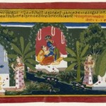 Quivering Earrings, Page from a Gita Govinda Series