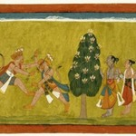 Vali and Sugriva Fighting, Folio from the Dispersed Shangri Ramayana