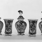 One of Five-Piece vase garniture