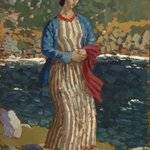 Woman by a Riverbank