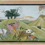 The Abduction of Sita, Page from an illustrated manuscript of the Ramayana