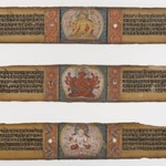Three Illustrated Palm leaves from a Prajnaparamita
