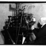 [Untitled] (Man Seated at Machine)