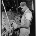 [Untitled]  (Young Man at Lathe)