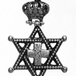Pendant Cross with Crown and Star of David