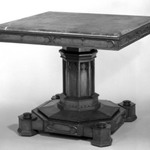 Rosewood Table with Black Marble Top