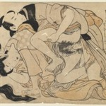 Amorous Couple (woodblock print)