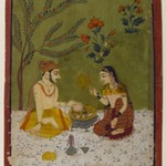 Couple Seated Under a Tree
